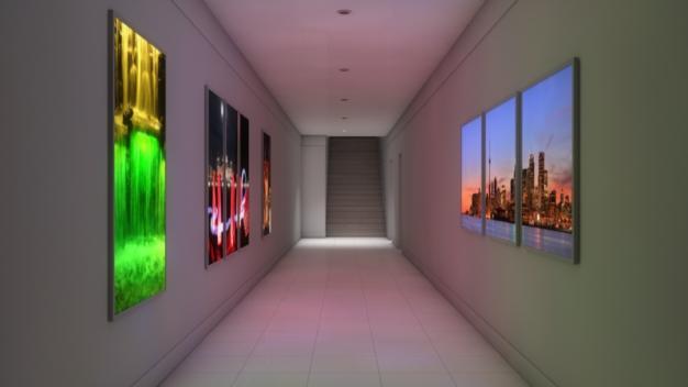 LED-Magnetbildrahmen mit LED-Flächenlicht RGB-W